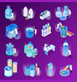 water purification isometric icon set vector image vector image