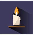 wax candle color icon with shade on dark vector image vector image