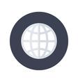 White globe icon over blue vector image vector image