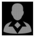 white halftone guy icon vector image vector image