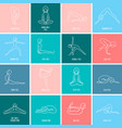 yoga icon linear set vector image vector image
