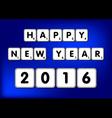 Happy New Year 2016 Scrabble vector image