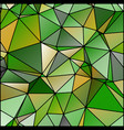 abstract stained glass in spring colors vector image