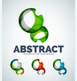 sphere abstract icons vector image