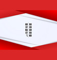 abstract template header and footers red and gray vector image vector image