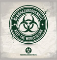 alternative no biohazardous waste stamp vector image vector image