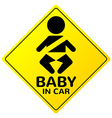 Baby in car sign vector image vector image