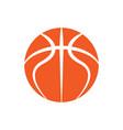 basketball orange outline symbol vector image vector image
