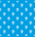 bitcoin pattern seamless blue vector image vector image