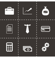 black business icon set vector image vector image