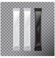 blank foil bag set packaging for food sugar salt vector image