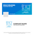 blue business logo template for secure protection vector image