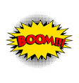 boom comic word pop art retro style vector image vector image