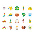 brazil flat style icon set design vector image vector image