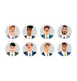 business men avatars vector image