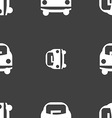 Car icon sign Seamless pattern on a gray vector image vector image