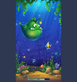 cartoon bright underwater vector image vector image