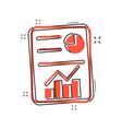 cartoon checklist icon in comic style document vector image