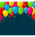 Celebrate background with flat balloons vector image vector image