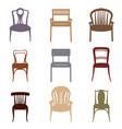 chair armchair icons set furniture retro style vector image