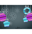 Christmas background with color christmas baubles vector image vector image