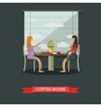 Coffee house concept in flat vector image