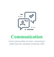 communication concept online support chat bot vector image vector image