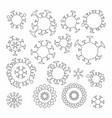 corona virus silhouette shape signs set vector image vector image