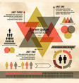 dark triangle diagram infographic vector image vector image