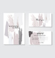 design templates in pastel grey pink colorsevent vector image vector image