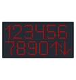 Digital Number Set for Elevator or Watch vector image vector image