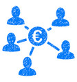 euro client payments grunge icon vector image vector image