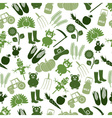 farm icons green seamless pattern eps10 vector image vector image