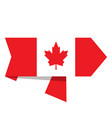 flag of canada on a label vector image vector image