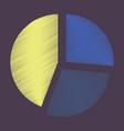 Flat shading style icon pie chart
