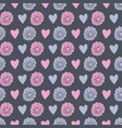 floral and hearts repeat pattern pattern vector image vector image