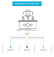 game boss legend master ceo business flow chart vector image