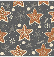 gingerbread cookie seamless background vector image