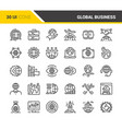 global business icons vector image vector image