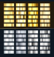 golden and silver gradient set various shiny vector image vector image