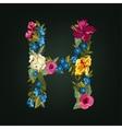 H letter Flower capital alphabet Colorful font vector image vector image