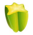 half carambola icon cartoon style vector image vector image