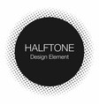 halftone dots monochrome abstract background in vector image