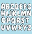 hand drawn doodle font set sketch alphabet vector image vector image