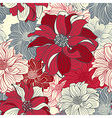 hand-drawn flowers dahlia seamless background vector image vector image