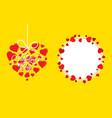 happy valentines day greeting design vector image