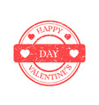 happy valentines day stamp isolated on vector image vector image