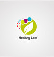 healthy leaf logo icon element and template vector image vector image