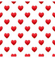 heart suit plying card pattern vector image vector image