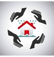 house insurance concept icon vector image vector image